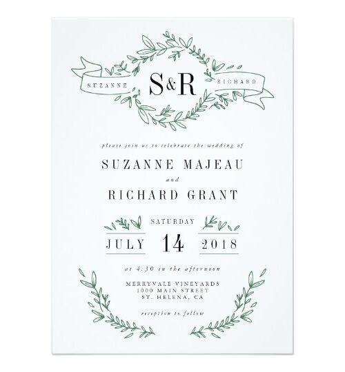Rustic Elegant Floral Monogram Wedding Suite
