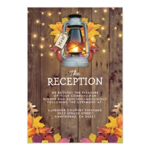 Autumn Leaves Rustic Fall Invitation Suite