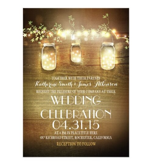 Lights Mason Jars Wedding Collection
