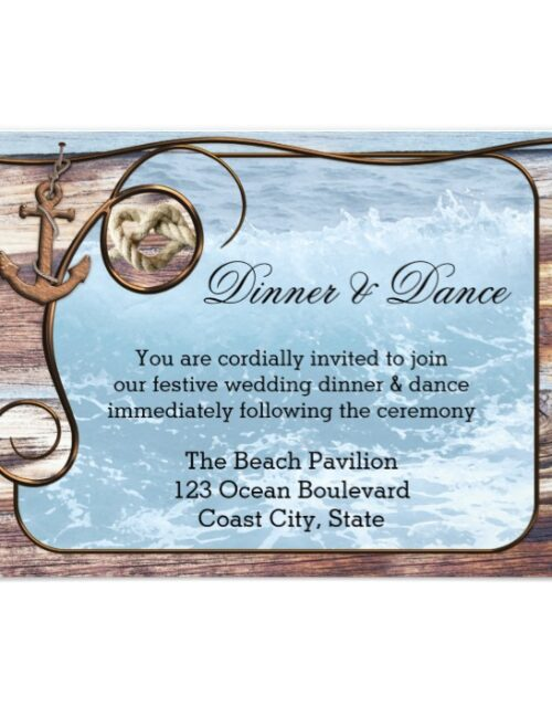 Nautical Rustic Wedding