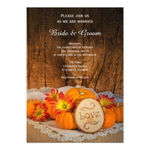 Rustic Pumpkins Fall Wedding Stationery Products