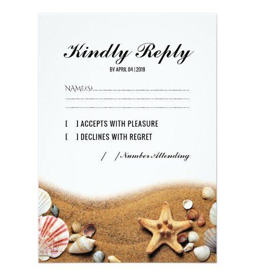 Rustic Starfish Beach Summer Invitation Suite