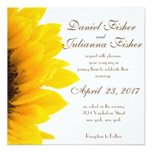 Sunflower Wedding Stationary Collection