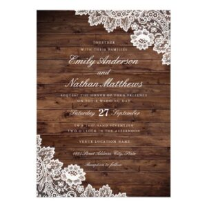 Rustic Wood Vintage Lace Wedding