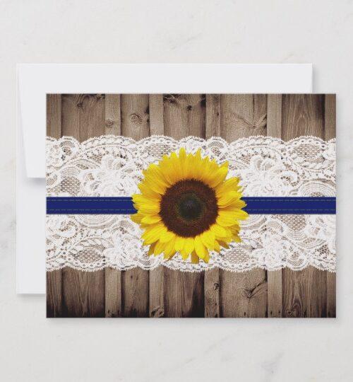 Rustic Sunflower Wedding Invitations