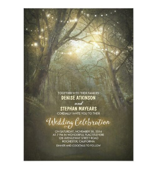 Enchanted Woodland Rustic Wedding Collection