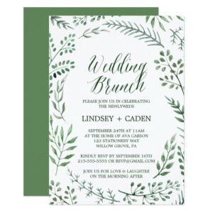 Rustic Wreath Wedding Invitation Collection