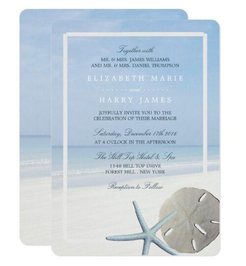 Sand Dollar and Starfish Beach Wedding Collection
