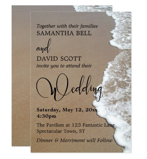 Sand & Foam Beach Typography Wedding & Event Suite