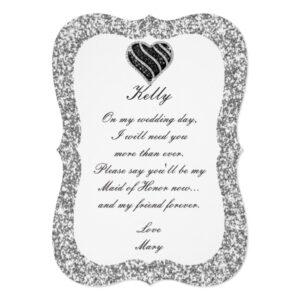 Silver Glitter Black Heart Wedding Collection