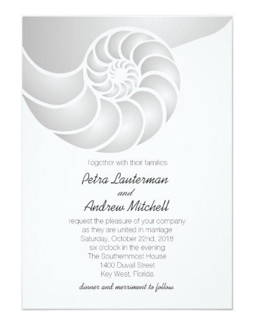 Nautilus Nautical Wedding Collection