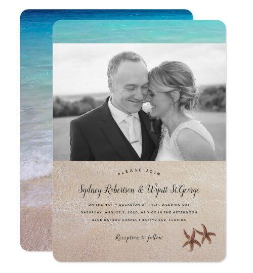 """By the Sea"" Beach Wedding Invitation Set"