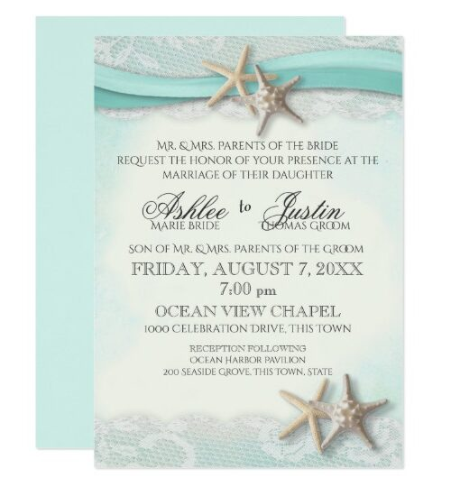 Starfish Ribbon and Lace Beach Romance