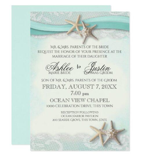Starfish Ribbon and Lace Beach Romance