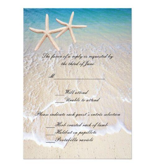 Starfish Beach Wedding