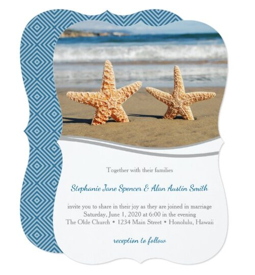 Starfish Couple Beach Wedding