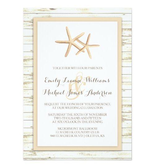 Whitewashed Starfish | Beach Wedding Collection