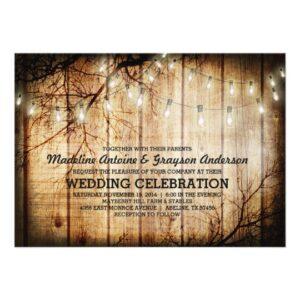 String Lights Barn Wood | Wedding Collection