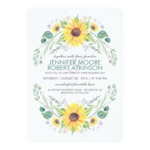 Sunflowers Rustic Country Wedding Collection