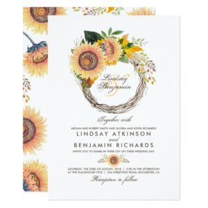 Fall Sunflowers Wreath
