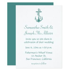 Vintage Anchor Illustration Wedding