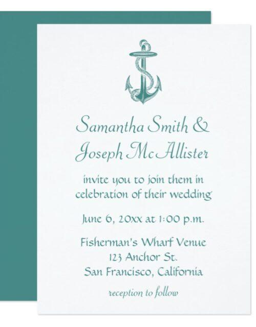 Vintage Anchor Illustration Wedding