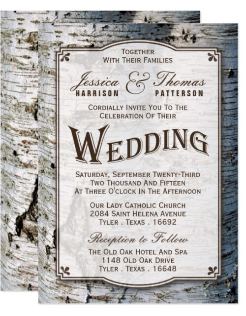 The Rustic Silver Birch Tree Wedding Collection
