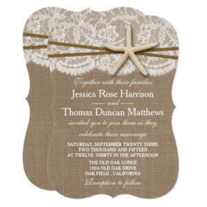 The Rustic Starfish Beach Wedding Collection