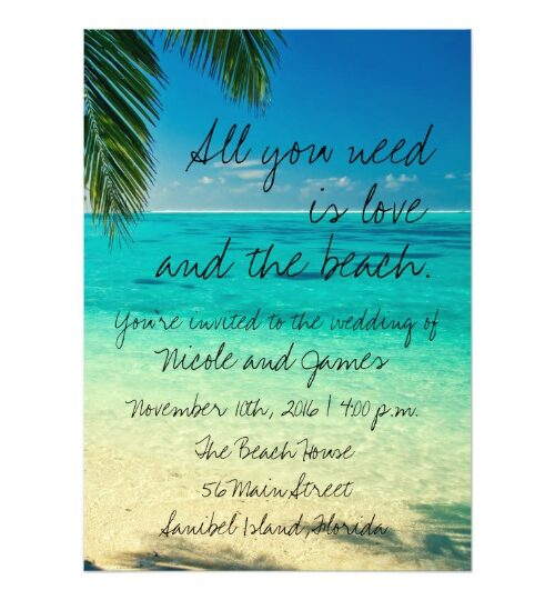 All You Need is Love & the Beach Wedding