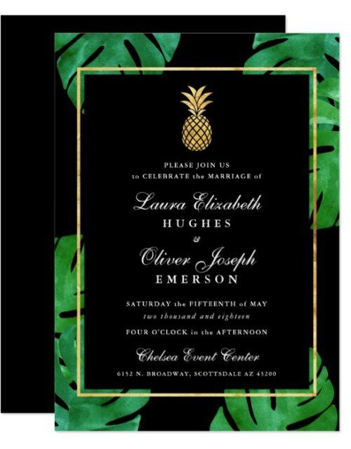 Tropical Pineapple Wedding Set