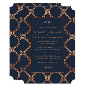 Navy & Gold Geometric Art Deco Gatsby Wedding