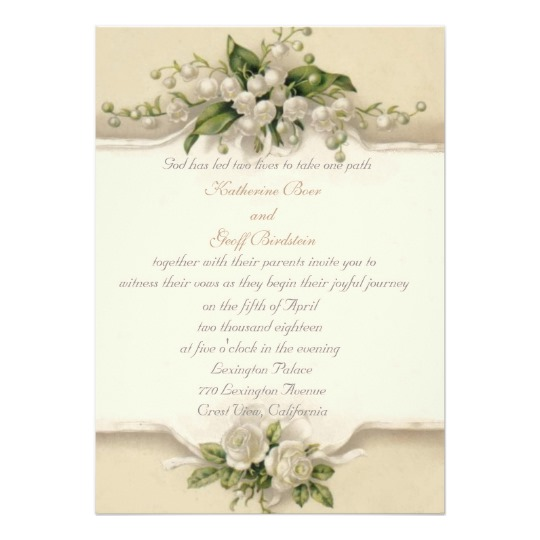 Romantic Flowers and Lace Wedding
