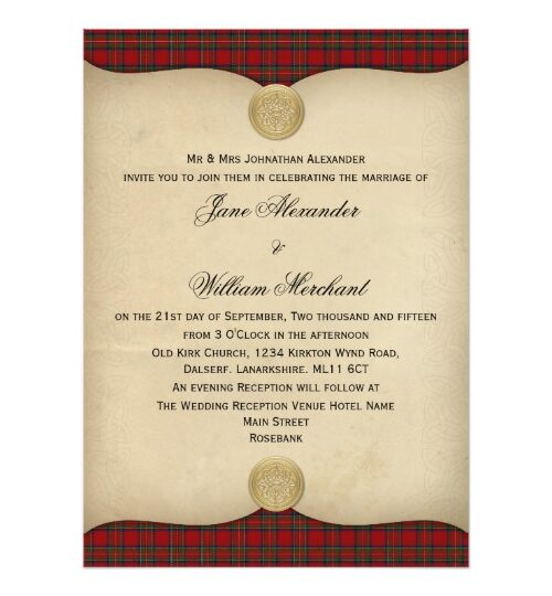 Tartan and Parchment Wedding Collection