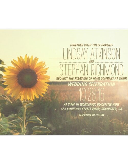 Sunflower Romantic Rustic Wedding Collection