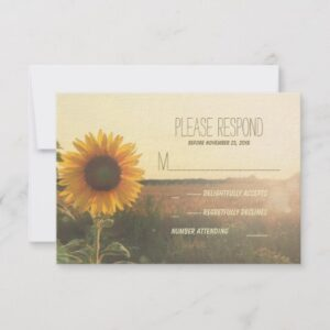 Sunflower Romantic Rustic Wedding Collection