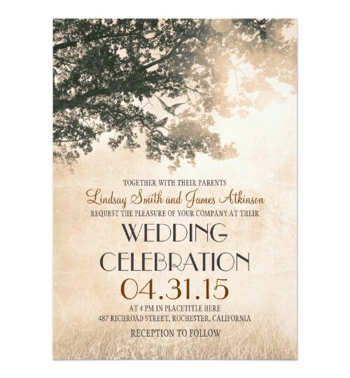 Tree & Love Birds Wedding Collection