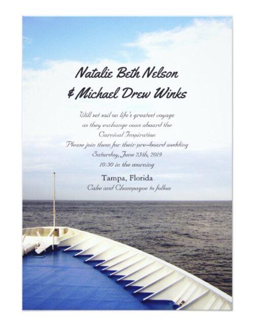 © Cruise Ship Yacht Wedding or Celebration Event