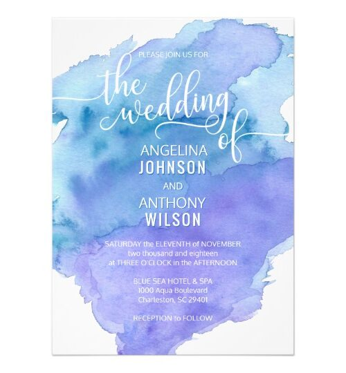 WATERCOLOR BLUE Wedding