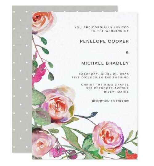 Watercolor Floral Wedding