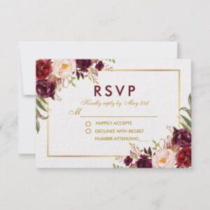 Bridal Shower Tea Party - Burgundy & Gold