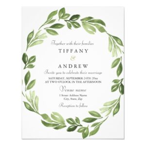 In the Woods Forest Leaf Wreath Wedding Set