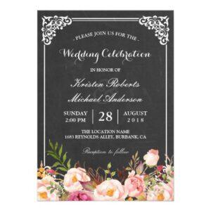 Invitation Suite: Chalkboard Vintage Floral