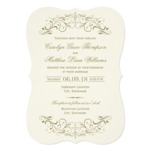 Wedding Collection | Antique Flourish with Ivory