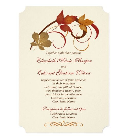 Wedding Collection | Rustic Falling Leaves