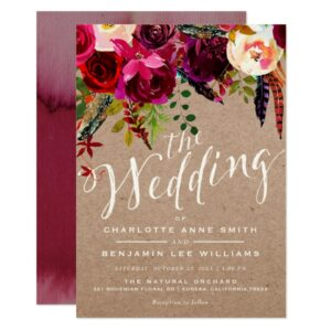 WEDDING | Elegant Floral Rustic Boho Collection