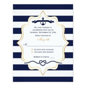 Navy Burlap, Nautical Stripes