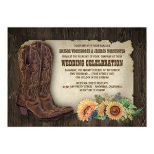 Western Cowboy Boots Sunflower Wedding Suite