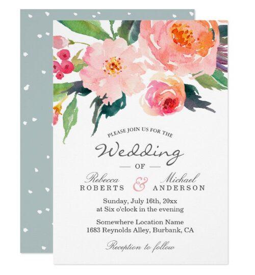 Invitation Suite: Modern Watercolor Chic Floral