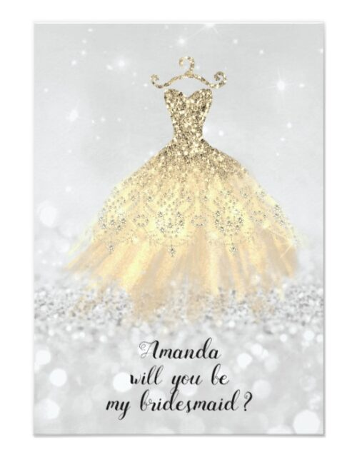 Glitter Will You Be My Bridesmaid?