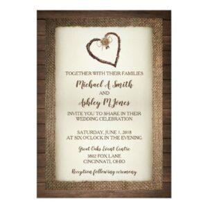 Wood, Burlap & Twine Heart Wedding Collection